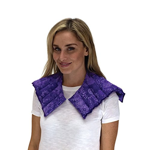 Nature Creation- Neck & Shoulder Wrap - Herbal Heating Pad - Hot & Cold Therapy Pack (Purple Flowers) (Herbal Microwaveable Heat Pad compare prices)