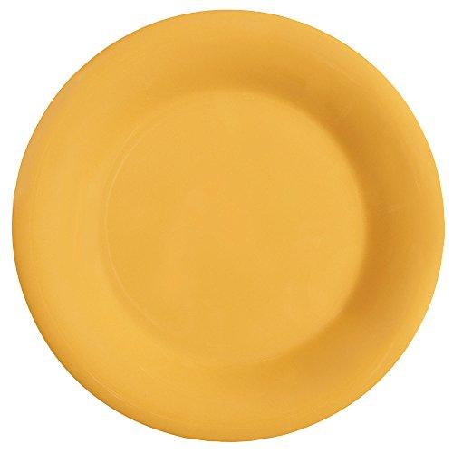 "Get Wp-5-Ty Diamond Mardi Gras 5 1/2"" Tropical Yellow Wide Rim Round Melamine Plate - 48 / Case"
