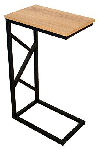 bonVIVO-Designer-Couchtisch-GIORGIO-Beistelltisch-in-moderner-Holz-Optik-schwarzem-Stahlgestell