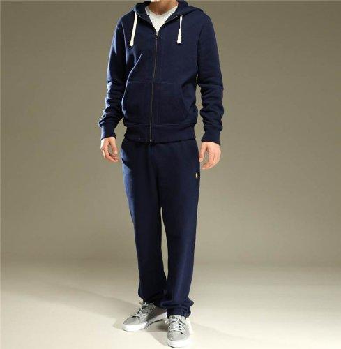 New Mens Polo Ralph Lauren Men's Fleece hooded tracksuit Top and Bottom - S M L XL