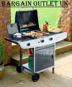 Deluxe 2 Burner Gas Barbecue BBQ with Side Burner RRP £249.99