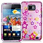 Samsung Galaxy S II Attain SGH-i777 i9100 (AT&T) Colorful Star - Snap On Cover, Hard Plastic Case, Face cover, Protector - Retail Packaged