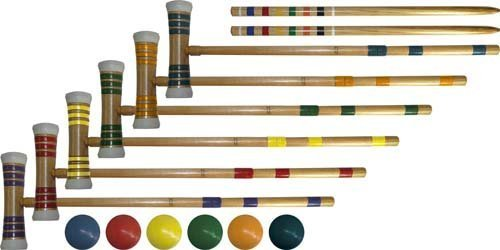"""Gym And Outdoor Games Outdoor Games Activities Croquet - 24"""" Tournament Croquet Set - Set Of 6"""