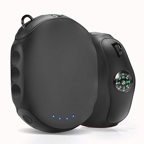 大容量 モバイルバッテリー 8000mAh コンパクト 小型 充電器 羅針盤が付き 旅行 アウトドア キャンプの良品 (ブラック)