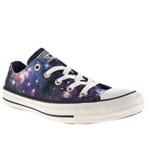 Converse Ox Vii Galaxy - 5 Uk - Black & Purple - Fabric