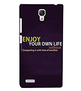PRINTSWAG QUOTE Designer Back Cover Case for XIAOMI REDMI NOTE