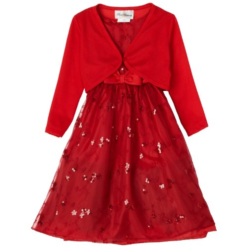 size 4 rre 41660h 2 piece red sequin embroidered mesh overlay special occasion flower girl valentine party dressh341660 rare editions girls 4 6x