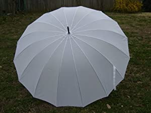 "Wedding Umbrella White 16 Panel 60"" Classic Design by OK Umbrella"