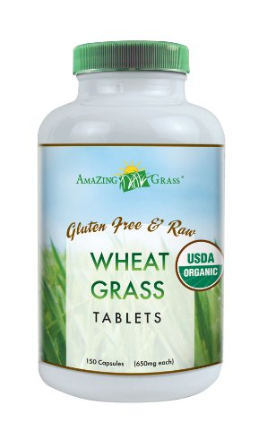 Amazing Grass Organic Wheat Grass Tablets 200 Count 