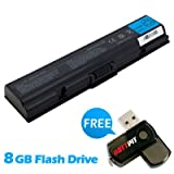Battpit⢠Laptop / Notebook Battery Replacement for Toshiba Satellite Pro L500-1D2 (4400 mAh) with 8GB Battpit⢠USB Flash Drive
