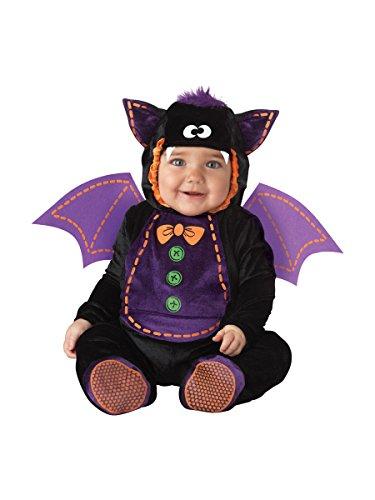 InCharacter Costumes Baby Bat Costume, Black/Purple, Small
