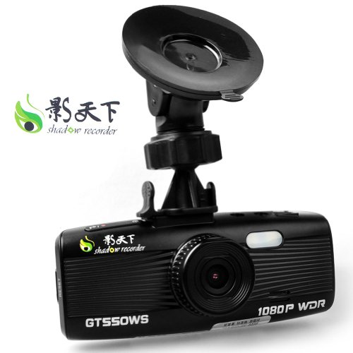 E-Prance® New Tiotech A8 Shadow Gt550W Car Dvr Recorder + Wdr + Full Hd 1080P 30Fps + G-Sensor + 4X Digital Zoom + Car Plate Stamp + Led Night Vision + Support Hdmi/Av Out + Sos + 32G Memory Card