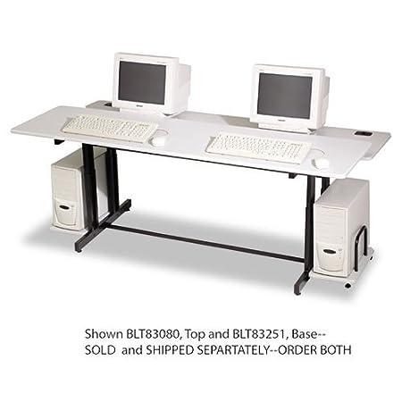 BALTiuml;iquest;frac12; quot;Split-Level Computer Training Table Base, 72w x 36d x 33h, Black (Box Two)quot; Unit of measure: EA, Manufacturer Part Number: 83251