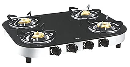 Elica Turno 654 CT Vetro AI 4 Burner Gas Cooktop