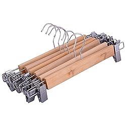 Combi Delight 6 Pieces Wooden Clip Hangers, 11.5 Cm X 33 Cm X 3 Cm