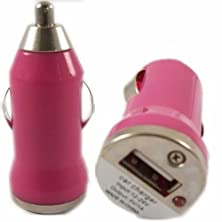buy Bullet Usb In Car Charger Adapter Port For Htc Desire 820 Dual Sim - Pink