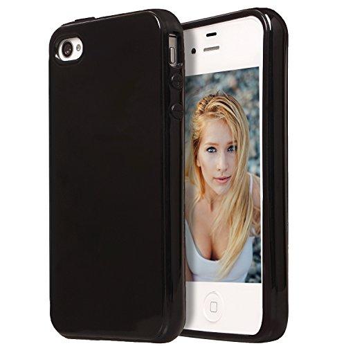 iPhone 4 Case,iPhone 4S Case, Drvan Bumper Shock-Absorption Anti-Scratch Silicon TPU Soft Full Cover Case for Apple iPhone 4 / iPhone 4S - Black (Iphone 4s Bumper Black compare prices)