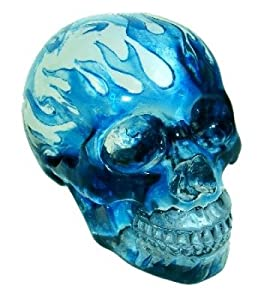 Gothic Tribal Flaming Blue Crystal Skull Kitchen Home