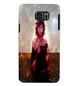 Fuson 3D Printed Girly Designer back case cover for Samsung Galaxy Note 5 - D4622