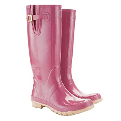 Joules Ladies Pink Glossy Wellys