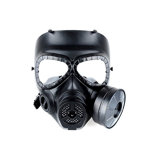 OFTEN Airsoft Paintbal Dummy Gas Mask Fan for Cosplay Protection Zombie Soldiers Halloween Masquerade Resident Evil Antivirus Skull (Black) (Airsoft Gas Mask compare prices)