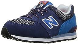 New Balance KL574 Summit Running Shoe (Infant/Toddler), Blue/Blue, 2 M US Infant