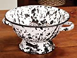 Enamel Black Splash Colander
