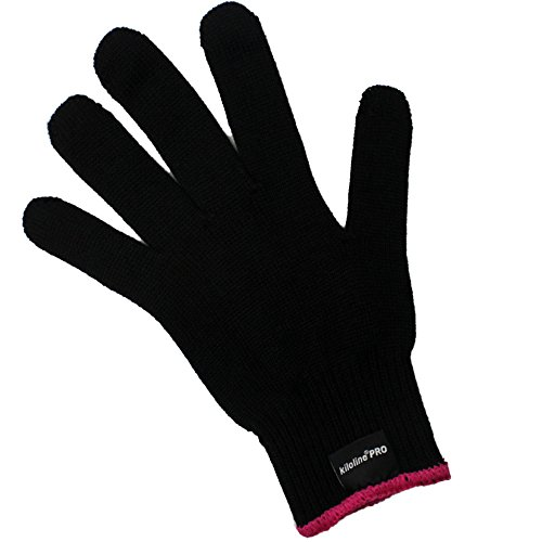 Kiloline Professional Heat Resistant Glove for Hair Styling Heat Blocking for Curling, Flat Iron and Curling Wand Suitable for Left and Right Hands (Flat Irons Under 10 compare prices)