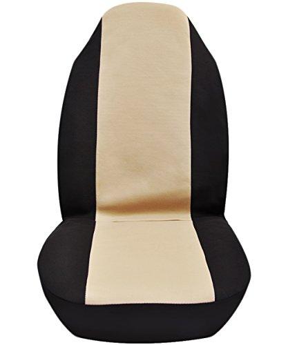 Sedile-anteriore-universale-Tessuto-di-Poliestere-Seat-Cover-di-protezione-per-auto-van-SUV-Beige