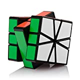 D-FantiX YJ Guanlong SQ-1 Non-cubic Speed Cube Square-1 Shapes Puzzles Cube Black with Cube Stand