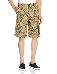 Parx Men's Cotton Shorts (8907116557041_XMHX00170-Y5_36_Medium Yellow)