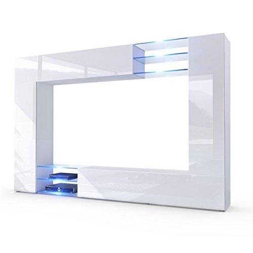 Wohnwand-Anbauwand-Mirage-Korpus-in-Wei-matt-Fronten-in-Wei-Hochglanz-inkl-LED-Beleuchtung