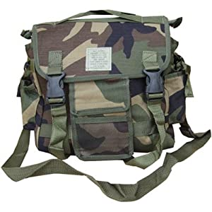 Zip Zap Zooom Army Combat Military Utility Travel Cargo Shoulder Messenger Bag DPM New