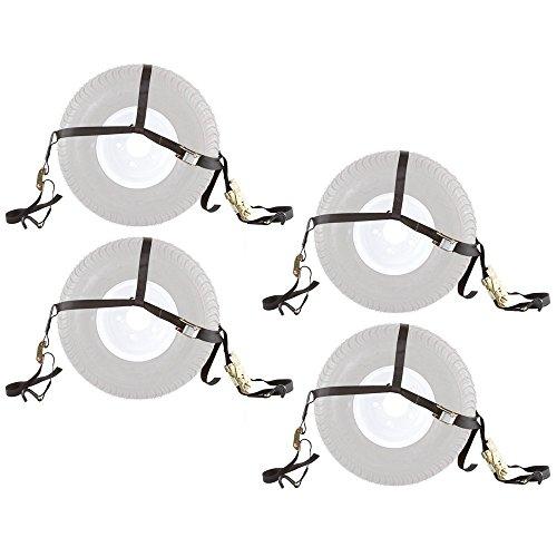4-Pack-of-ATV-or-UTV-Wheel-Anchor-Bonnet-Ratcheting-Tie-Down-Straps