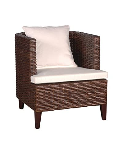 Jeffan Ellese Arm Chair, Dark Natural