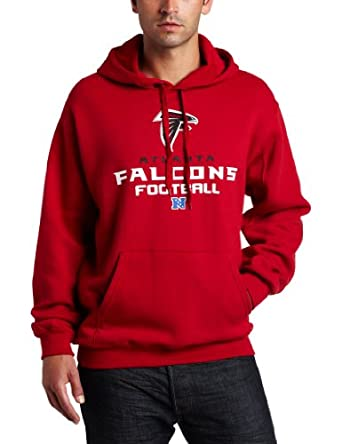NFL Mens Atlanta Falcons Critical Victory V Long Sleeve Hooded Fleece Pullover by NFL