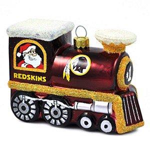 NFL Washington Redskins Blown Glass Train Ornament