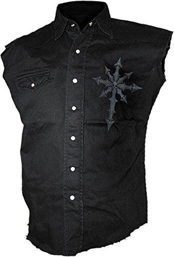 Spiral -  Camicia Casual  - Senza maniche  - Uomo nero Medium