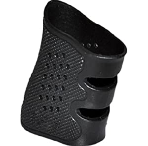 Glock Grip Sleeve, Glove - Rubber Slip-on - fits Glock Semi-auto handgun, and stretchable to fit Most Autos - Fits Glock 17 19 23 20 21 22 31 34 35 37 Check measurements here for your Beretta, S&W, 1911, Smith and Wesson, M&P, Browning or Ruger Pistol - C