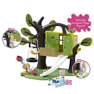 Peppa pig tree house playset toys games for Arbre maison jouet