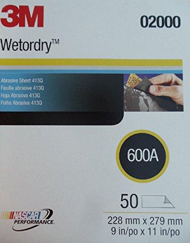 3M Imperial Wet or Dry 600 Grit SandPaper / Abrasive Sheets 9