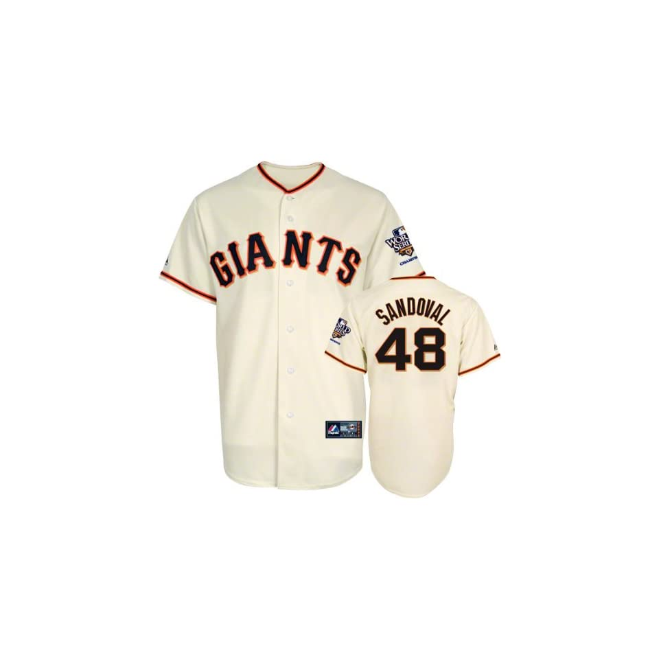 Pablo Sandoval Jersey San Francisco Giants #48 Home Replica Jersey with 2010 World Series Champs Patch