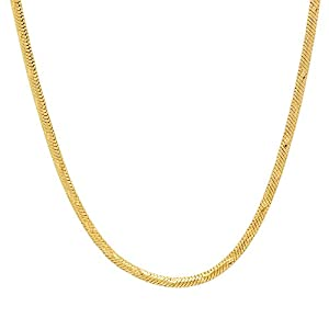 2mm Gold Plated Snake Chain Necklace, 24