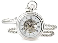 Stuhrling Original Pocket Watch 6053.33113 Special Reserve Montres de Poche Vintage Mechanical Skeleton Stainless Steel Watch from Stuhrling Original