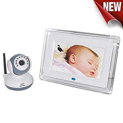 """Celendi 2.4GHz Wireless Digital Video Baby Monitor - Night Vision and Two-Way Intercom with 7"""" Color LCD Screen"""