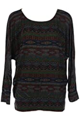 G2 Chic Women's Ethnic Printed Winter Knit Top