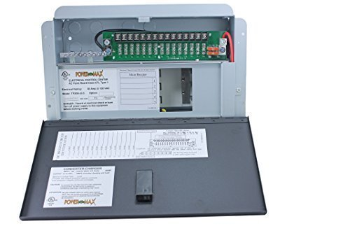 Powermax Electrical Control Center Distribution Panel 110v to 12 volt 45 amp battery charger (Rv Dealerships compare prices)