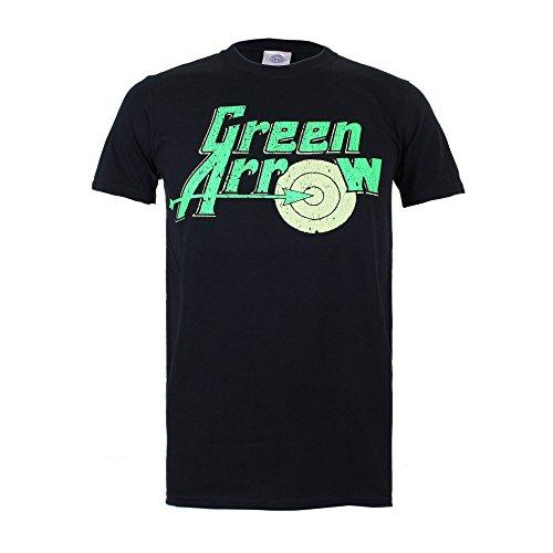 DC Comics Green Arrow Logo-Mens Sml, T-Shirt Uomo, Nero (Black), Small