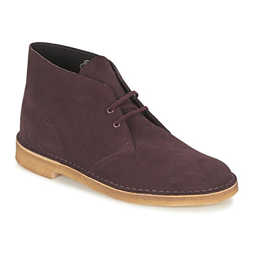Clarks Originals 26111465 Scarpe stringate Desert Boot, Uomo, Rosso (Wine Suede), 42