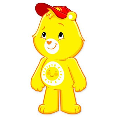 Care Bears Funshine Bear Vynil Car Sticker Decal - Select Size front-646606